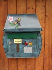 Lustiger Briefkasten Libelle Käfer  Unikat Handgefertigt abschließbar Handbemalt