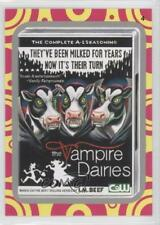 2014 Topps Wacky Packages Series 1 Terrible TV Silver #4 The Vampire Dairies 3j2