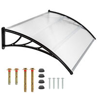 Front door canopy porch rain protector awning lean-to roof shelter 120x93 cm