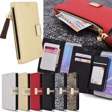 Toomoba Zipper Wallet Case for LG G8 ThinQ G7 G6 G5 G4 LG G3 LG V40 V30 V20 V10