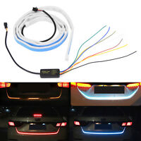 "Trunk New Rear Blue Flowing Led Ice Strip Signal Car Light Tail 47"" Turn Brake"