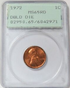 1972 LINCOLN MEMORIAL CENT 1C GENERATION 1 GREEN LABEL PCGS MINT STATE 65 RD