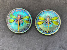 Beautiful Two Vintage Czech Dragonfly Buttons