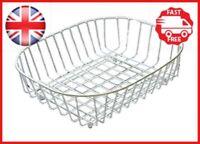 Delfinware White Oval Sink Basket, Metal