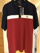 STUNNING FRED PERRY POLO SHIRT XL- BRAND NEW WITH TAGS