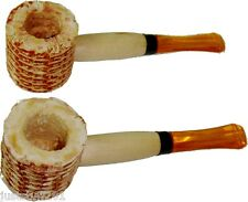 Classic Original Small Corn Cob Tobacco Smoking Pipes - 2 Pipes! *FREE SHIPPING*