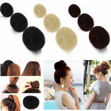 Women Girl's Hair Bun Sponge Maker Ring Donut Shape Hairband Styler Accessory