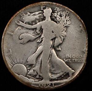 RARE KEY DATE CIRC DETAILS 1921-S WALKING LIBERTY HALF DOLLAR. SELLING WHOLE SET