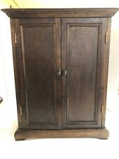 American Heirloom Collection Childs Doll Wood Wardrobe Armoir 11.5� By 14.5�