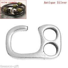 Hook Clasps Findings For Leather Bracelet Findings Antique Silver 20PCs