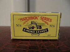Matchbox Series No. 6 A Moko LESNEY Product Dump Truck