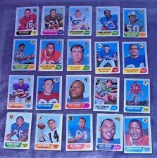 20 Topps 1968 Asst Teams & Players NFL Football Trading Cards Dawson Taylor Farr