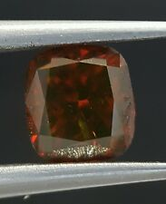 1.02 Carat Fancy Color Red Cognac Diamond Radiant Cut Best Price Real Image
