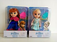 Disney Frozen Petite Anna & Elsa Toddler Dolls x 2 Brand new in boxes 6 inches