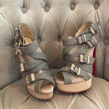 Christian Louboutin Hebilla De Malla Sandalias Zapatos Tacones UK 4 EU 37 Nuevo más de £ 600
