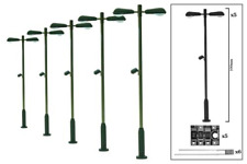 DCC Concepts DML-MLD5 Modern Double Head Station Lamp (5 Pack) OO Gauge