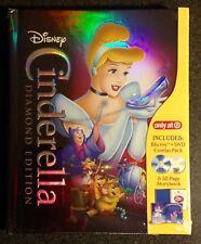 Disney CINDERELLA Blu-Ray DVD DigiBook 32p Storybook Target Exclusive OOP & Rare
