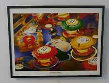 Charles Bell Pinball Neon Flipper Wandbild Picture NYP Neon Posters