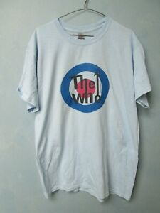 THE WHO ROCK AND ROLL VINTAGE LIKE RETRO BLUE MEN T SHIRT LARGE