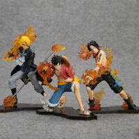 Anime Manga One Piece Luffy Ruffy Ace Sabo Figuren PVC 3PCS/SET 3 Brother Hot