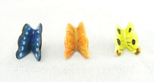 Porcelain Butterfly Tiny Miniature Set of 3 For Garden / Plant / Decoration