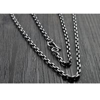 Solid 925 Sterling Silver Link Chain Curb Necklace 2.5MM-5MM Fit For Pendants
