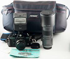 YASHICA FX-3 SUPER 2000 SPLENDID 35mm FILM CAMERA KIT
