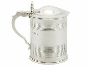 Antique George IV Sterling Silver Half Pint Tankard, 1820's