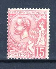 "MONACO STAMP TIMBRE N° 15 "" PRINCE ALBERT 1er 15c ROSE "" NEUF xx TTB T367"