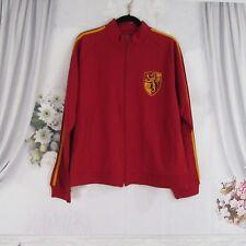 Harry Potter Gryffindor Warner Bros Red Full Zip Front Track Jacket Size XL