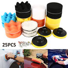 UK 25 Pieces Buffing Waxing Polishing Sponge Pads Kit For Car Polisher Drill NEW