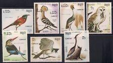 Cambodia  1987  Sc # 789-95  Birds   MNH   (1160)