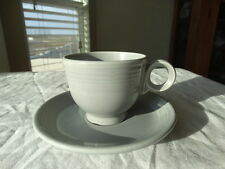 Vintage Homer Laughlin Fiesta Ware Grey/Gray Cup and Saucer (1950's)