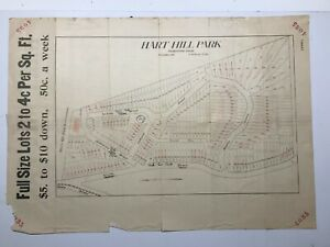 Antique Original 1914 Advertisement Plan of Lots for Sale Wakefield, Mass.