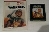 Warlords for the Atari 2600  7800 + Manual