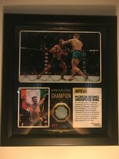 Conor McGregor Jose Aldo fight used canvas UFC plaque