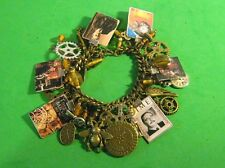 """""""THE TIME MACHINE""""-H.G. WELLS-STEAMPUNK CHARM BRACELET- MIXED METALS"""