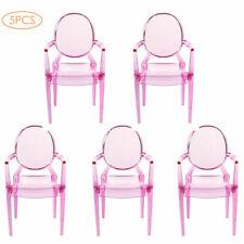5PCS Miniature Armchair Plastic Chair Furniture Dollhouse for 1/6 Doll Accs