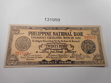 Philippines Emergency Guerrilla Currency PNB 20 Pesos Salmon Nice - # 131959