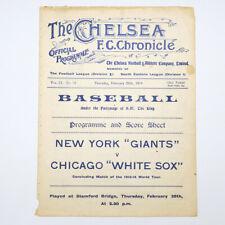More details for baseball program 1913-1914 world tour new york giants v chicago white sox
