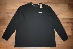 Patagonia Men's P-6 Logo Responsibili-Tee L/S Shirt 38518 Size XXL (Black) NWT