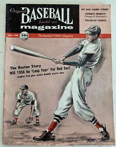 1956 The Original Baseball Magazine, Ted Williams Boston Red Sox, June (B135)