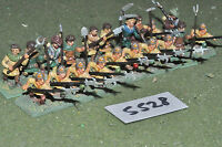25mm medieval / generic - halberdiers 20 infantry metal painted - inf (5528)
