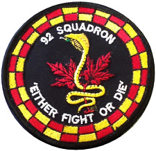 No. 92 Squadron Royal Air Force RAF 'Either Fight Or Die' Embroidered Patch