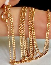 Vicenza Italian Rose Gold On Silver Flat Curb Chain Size 18""