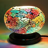 Home Decor Handcrafted Multi Color Small Tuffen Table Lamp with E 12 Holder