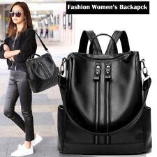 Fashion Women Backpack PU Leather Shoulder School Rucksack Lady Girls Travel Bag