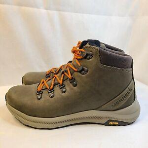 New Merrell Ontario Mid Hiking Boots Vibram Olive Green J53209 Men's Size 9.5