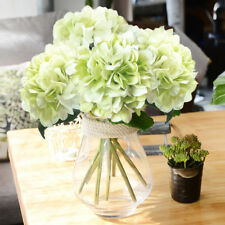 5pcs Artificial Hydrangea Fake Silk Flowers Decor Wedding Party Home Room Decor