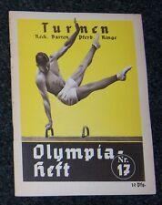 OLIMPIADI 1936 LIBRETTO NO. 17. - ginnastica (A).